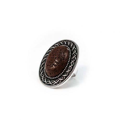 anillo-plateado-lava-marron